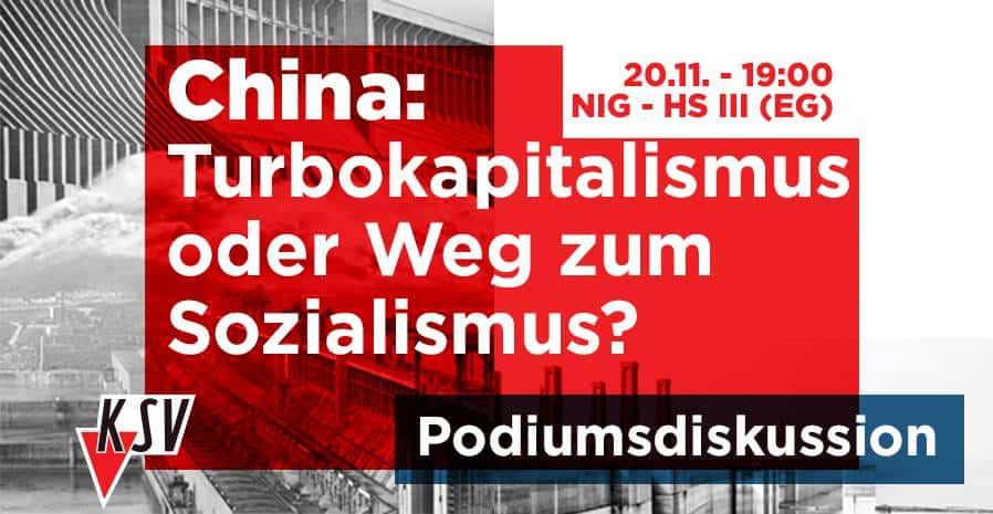 "Veranstaltung: ""China: Turbokapitalismus oder Weg zum Sozialismus?"""