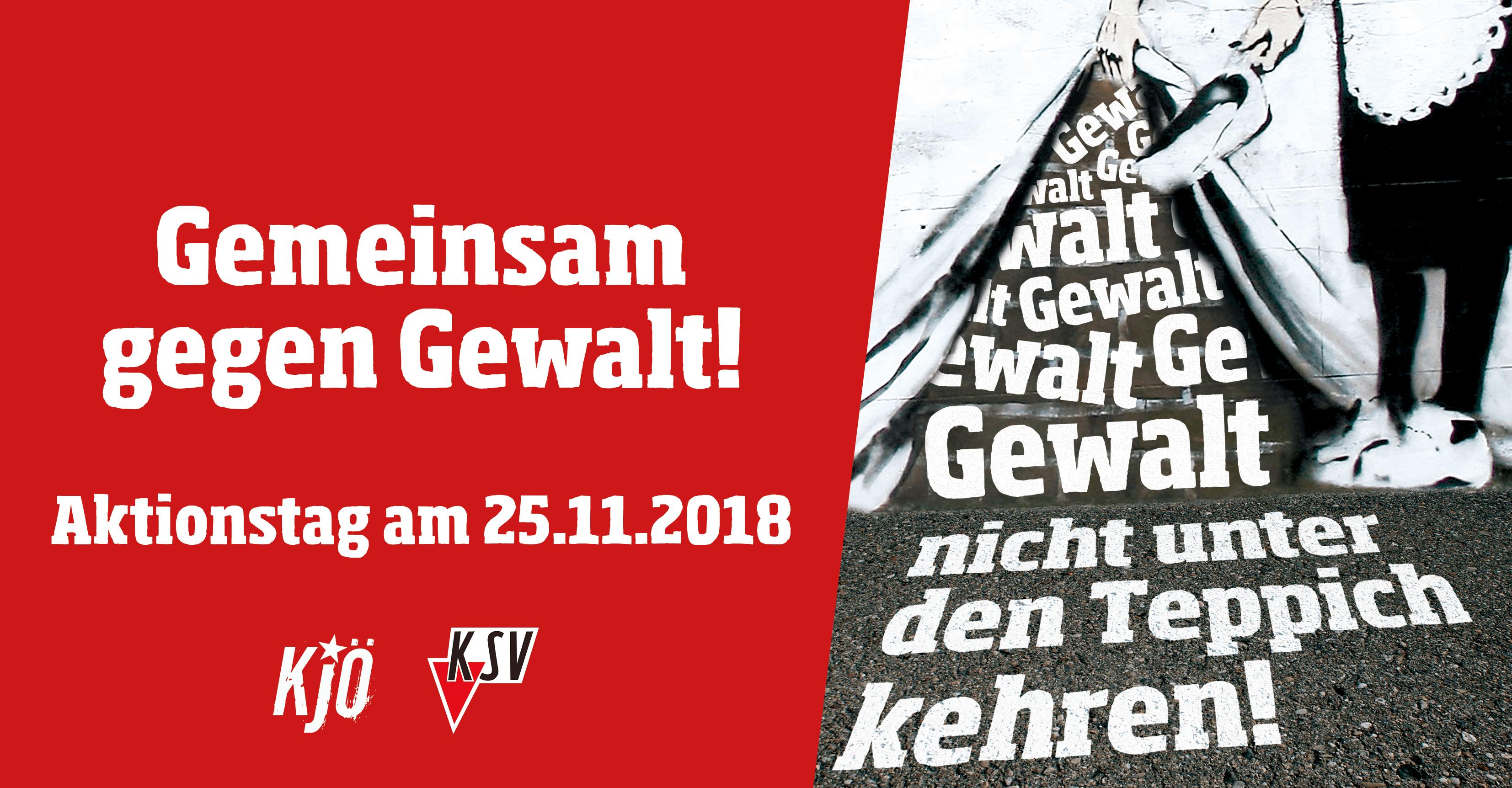 Aktionstag zum Tag gegen Gewalt an Frauen, 25. November 2018