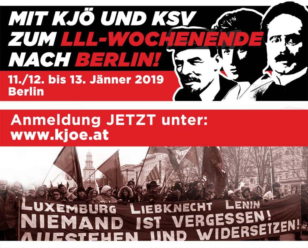 Wir fahren zur Luxemburg-Liebknecht-Lenin-Demonstration in Berlin